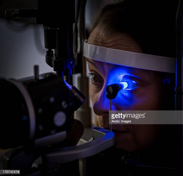 Examination of eye prior to laser surgery