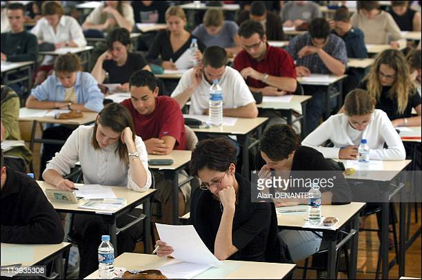 Examination of the Baccalaureat in Nantes, Clemenceau school In France On June 12, 2003.