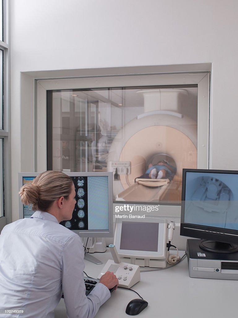 MRI examination : Stock Photo