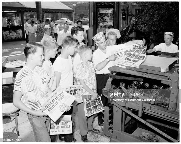 500 Examiner carries see 'Park Row' 2 September 1952 Nathan La Moure 13 years Jim Stuck 13 years Norman Hall 16 years Dale Nore 11 years Timmy...