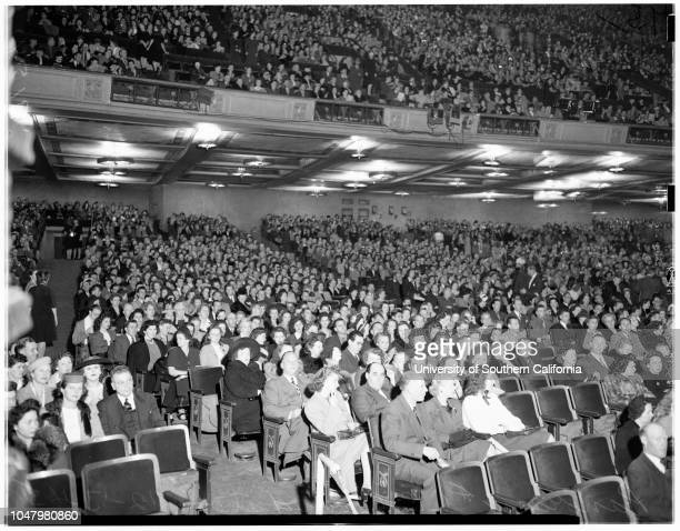 Examiner Christmas show at Shrine December 13 1945 Ilona Massey Ingred BergmanVan JohnsonCharles EdwardsVictor MatureLina RomayLou CostelloMarleen...