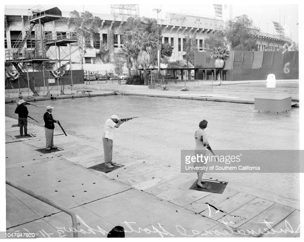 Examiner International Sports and Vacation Show March 16 1960 At Swim Stadium Coliseum Sports ArenaSkeet shootingWater skiingComedy diving Caption...