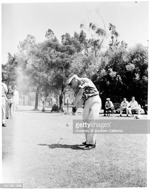 Examiner Junior Golf 21 June 1955 Bill SeanorTommy SelfPhil RodgersDick FooteAl Geiberger Sports Caption slip reads 'Photographer Miller Assignment...