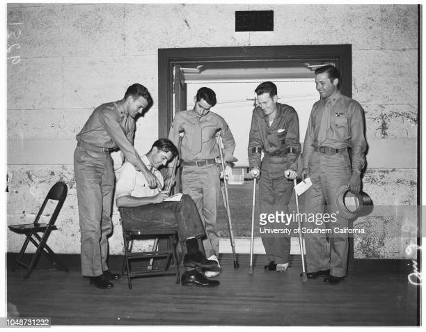 Examiner War Wounded Fund 2 August 1951 Lieutenant Clarence D LynnMrs Viola LynnCorporal CE RekdahlFP MurphyPrivate First Class RW MedskerSergeant CA...