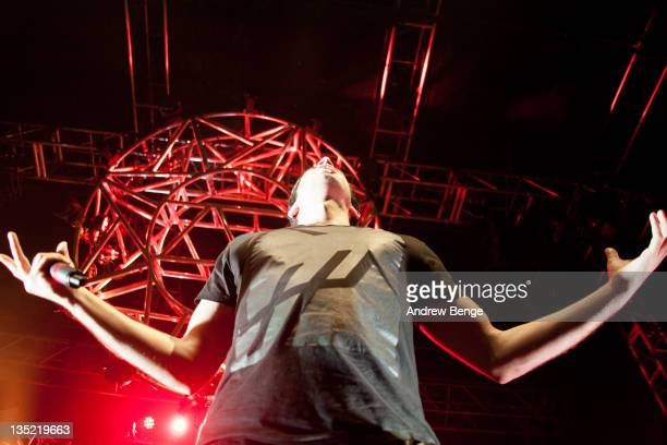 Example AKA Elliot Gleave performs on stage at O2 Academy on December 7, 2011 in Leeds, United Kingdom.