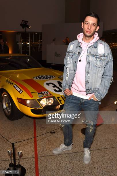 Example attends a private view of the 'Ferrari Under The Skin' exhibition hosted by Deyan Sudjic and Alice Black Directors of the Designb Museum...