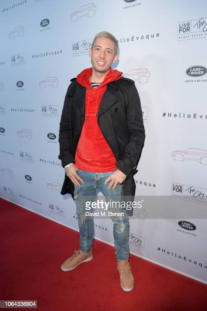 Example attends the World Premiere of the new Range Rover Evoque at The Old Truman Brewery on November 22 2018 in London England