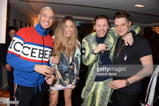 Example Erin McNaught Professor Green and John Newman attend The Arts Club Frieze Party on October 3 2018 in London England