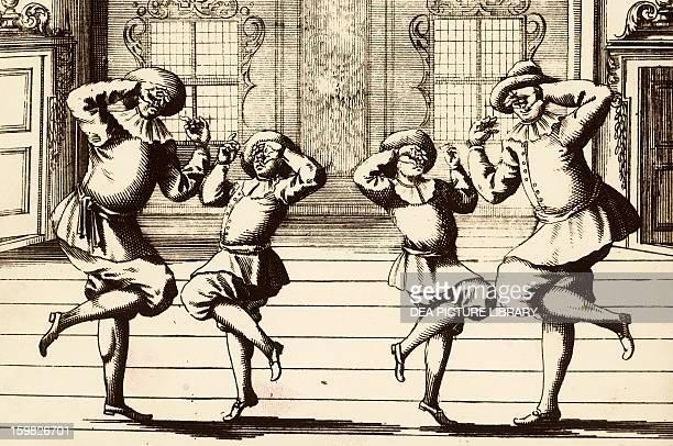 Example of a bourree transformed into dance theatre illustration taken from the publication Nuova e curiosa scuola de' balli teatrali Gregory...