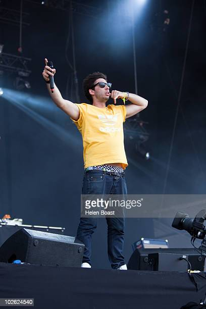 Example performing on stage on the second day of Wireless Festival at Hyde Park on July 3 2010 in London England