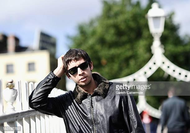 Example poses on the the Ha'Penny Bridge ahead of the Guinness Arthur's Day celebrations on September 26 2012 in Dublin Ireland Arthur's Day...