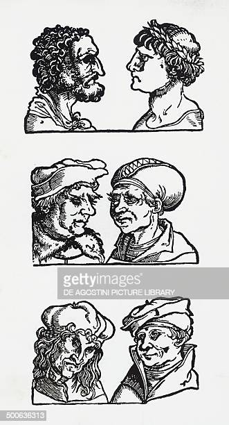 Examples of atavistic facial features, woodcuts, 15th century.
