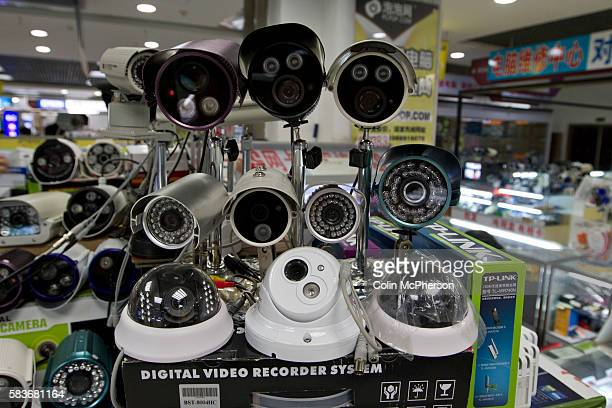 Examples of electronic surveillance equipment for sale at her retail unit housed within the Zhongguancun eplaza Beijing China