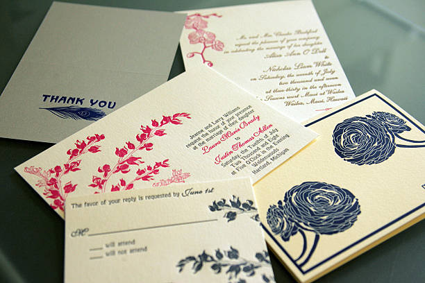 Examples Of Wedding Related Invitations Cards Produced By Christine Brandt Flora And Fauna