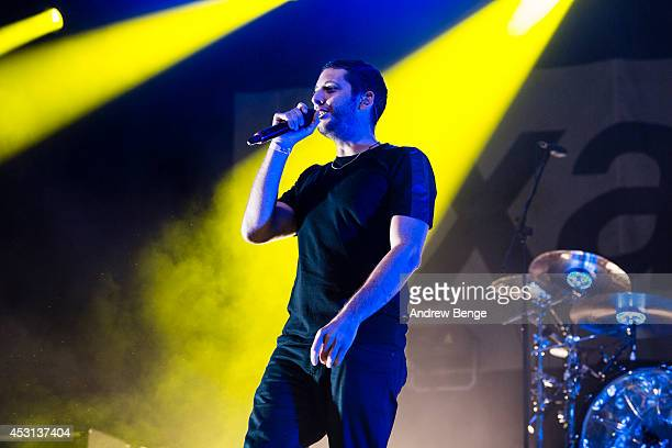 Examples performs on stage at Kendal Calling Festival at Lowther Deer Park on August 3 2014 in Kendal United Kingdom
