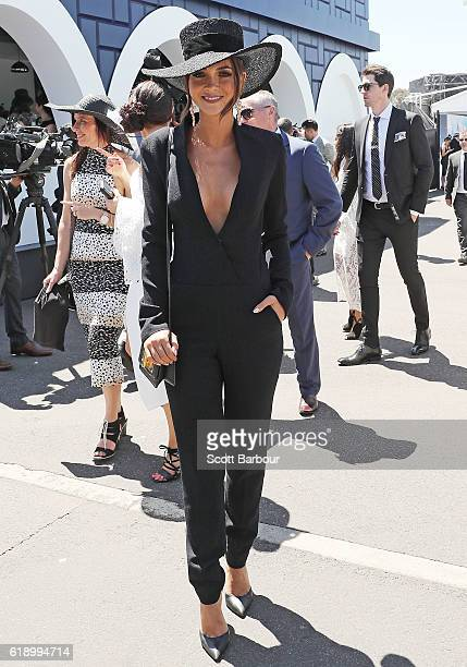 ExBig Brother star Aisha Jade attends on Derby Day at Flemington Racecourse on October 29 2016 in Melbourne Australia
