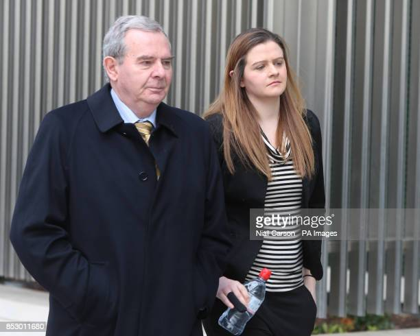Exbillionaire businessman Sean Quinn and his daughter Brenda arrive for the fraud trial of former Anglo Irish Bank executives Sean FitzPatrick Willie...
