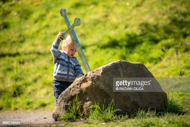 excalibur - arthur stock pictures, royalty-free photos & images