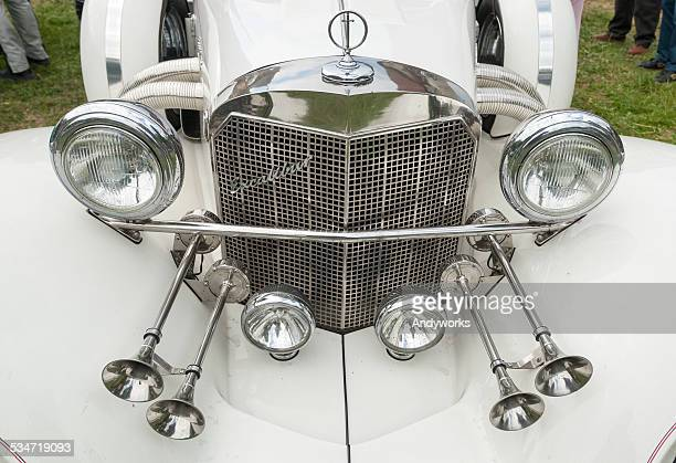 excalibur roadster detail - excalibur stock photos and pictures