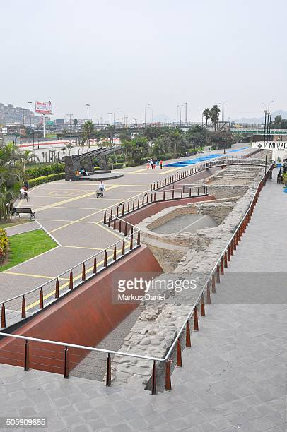 Excavated Historic City Wall of Lima, Peru