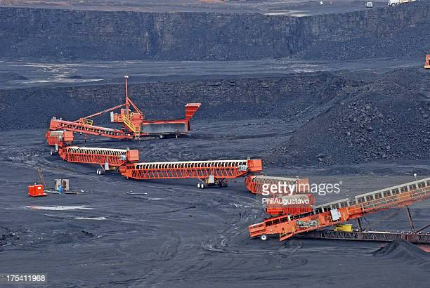 Excavating coal in Wyoming