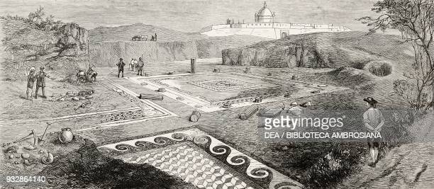 Excavating the ruins of a Roman villa at Malta illustration from the magazine The Graphic volume XXIII n 604 June 25 1881