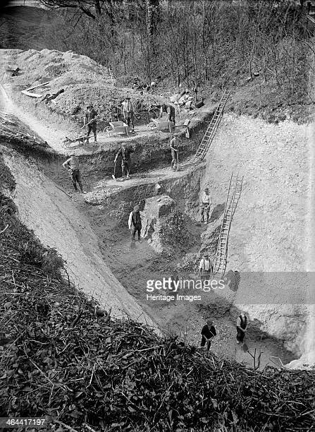 Excavation at Avebury Wiltshire 1922 The great henge at Avebury dates from circa 26002100 BC and has been designated a World Heritage Site A major...