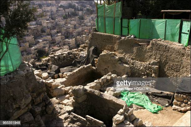 Excavation on the site of the City of David in Jerusalem Archaeologist Eilat Mazar has uncovered a monumental building dating back to the 11th...