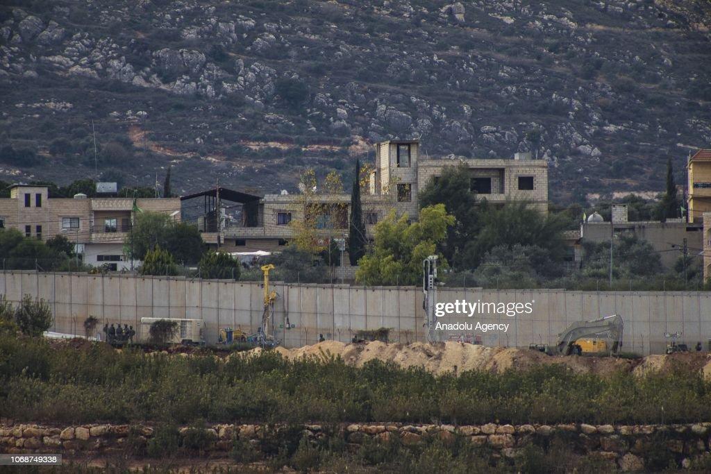Israel launches anti-tunnel operation on Lebanon border : News Photo