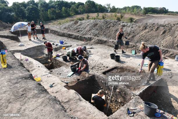 Excavation works of student of the Free University Berlin in cooperation with the State Office for the Preservation of Historical Monuments and...