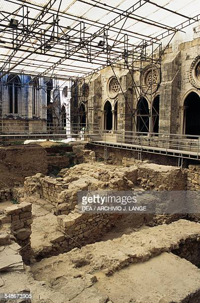 Excavations in the cloister of Lisbon Cathedral Lisbon Province of Extremadura Portugal 12th18th century