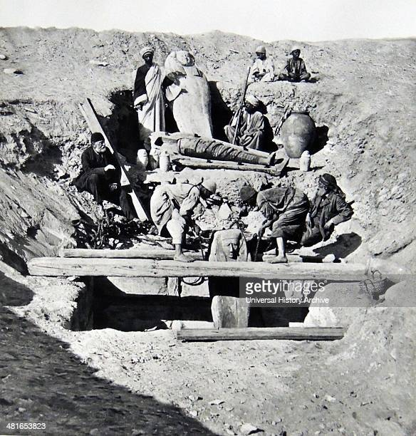 excavations in upper egypt by arab workmen under French direction during an archaeological expedition 1893