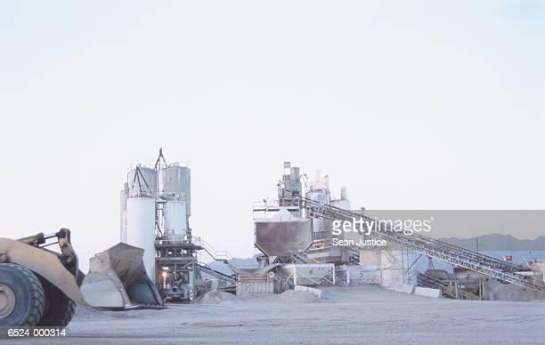 Excavator at Cement Plant