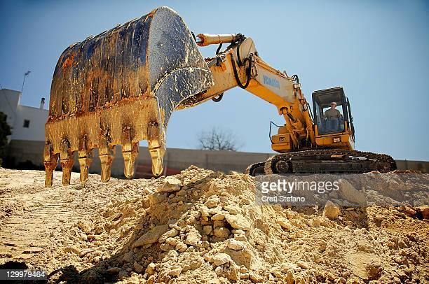 excavator - excavator - fotografias e filmes do acervo