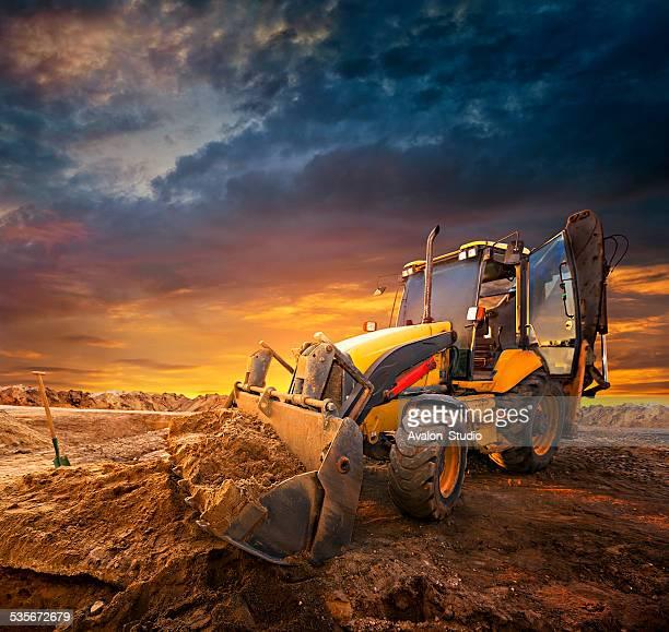 excavator - escavadora mecânica - fotografias e filmes do acervo