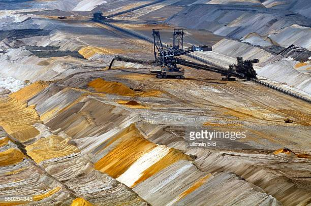 Excavators in the soft coal opencast mining site Hambach
