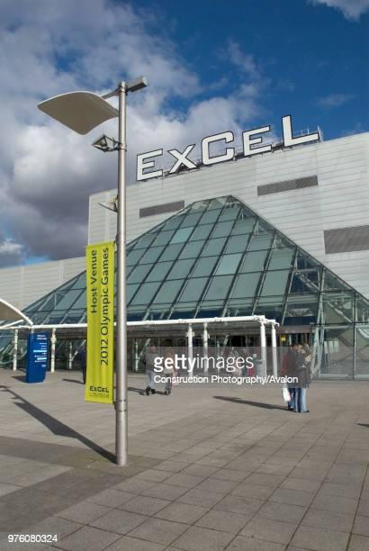 Excel Centre at Royal Victoria Dock, East London, UK.