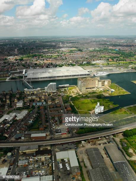 ExCel Exhibition Centre on Royal Victoria Dock London Docklands Thames Gateway UK
