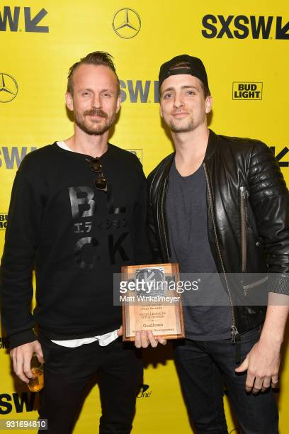Excellence In Title Design Award winners for the Film Godless Jon Noorlander and John Likens attend the SXSW Film Awards Show 2018 SXSW Conference...