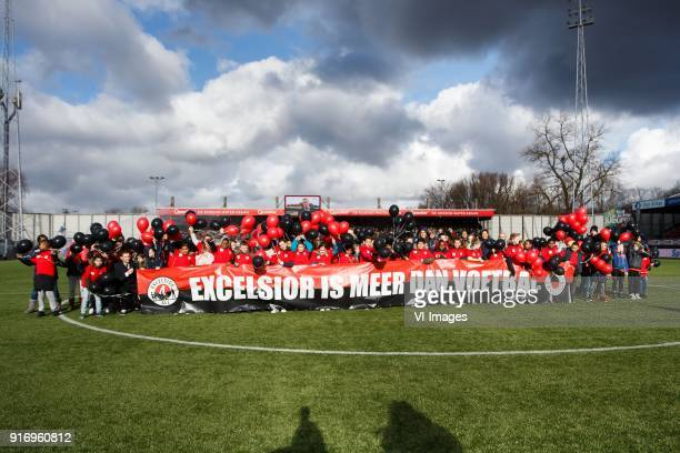Excelsior is meer dan voetbal banner during the Dutch Eredivisie match between sbv Excelsior Rotterdam and NAC Breda at Van Donge De Roo stadium on...