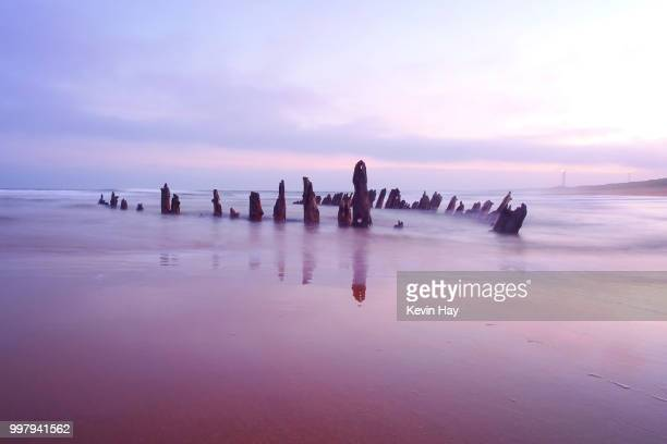 excelsior of laurwig shipwreck. norwegian barque wrecked in the 1800's at rattray head - rattray head stock pictures, royalty-free photos & images