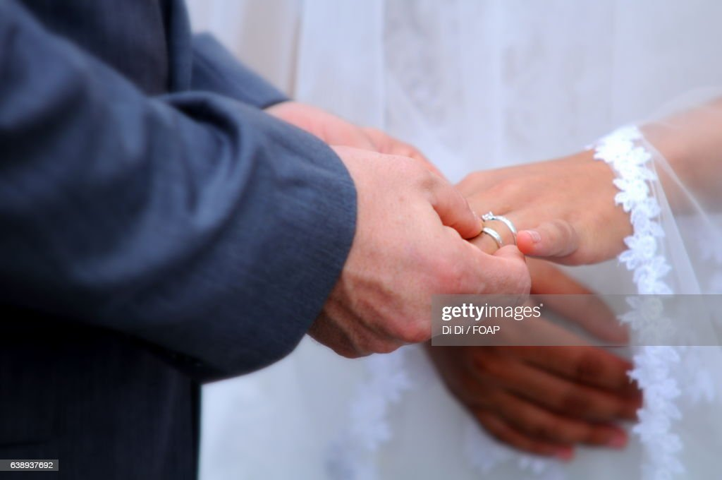 Exchange Of Wedding Rings Stock Photo Getty Images