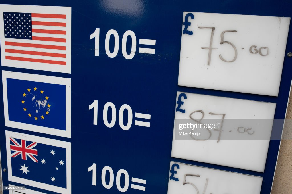 Exchange Rate Board Outside A Currency