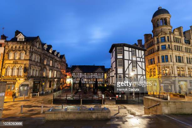 exchange square in manchester - manchester england stock pictures, royalty-free photos & images