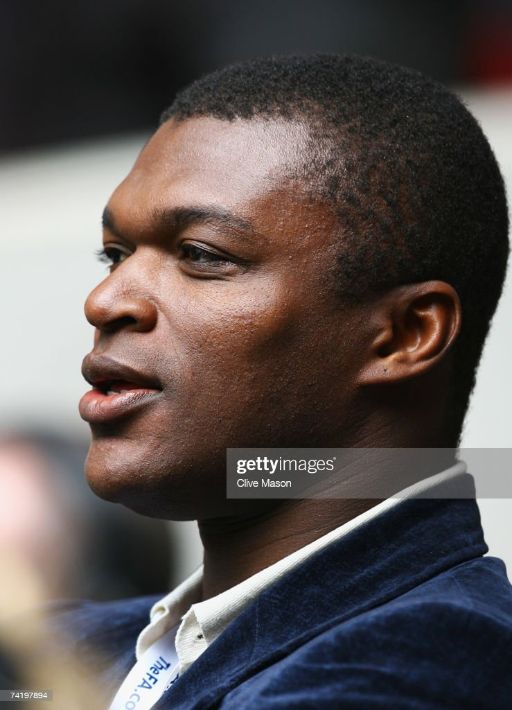 Ex-Chelsea player Marcel Desailly looks on prior to the FA Cup Final match sponsored by E.ON between Manchester United and Chelsea at Wembley Stadium on May 19, 2007 in London, England.