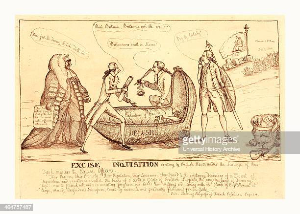 Excise Inquisition Erecting By English Slaves Under The Scourge Of Their Taskmasters The Excise Officers Dent William Active 17831793 Artist England...