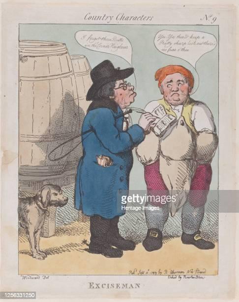 Exciseman September 10 1799 Artist Thomas Rowlandson