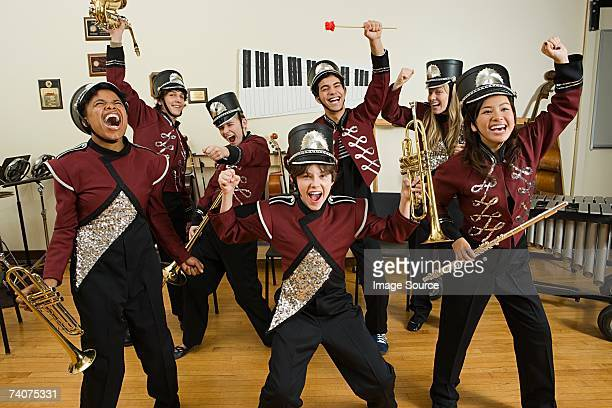 excited band - performance group stock pictures, royalty-free photos & images