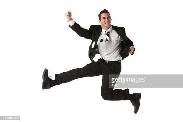興奮走るビジネスマン