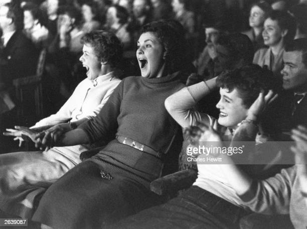 Excited fans in the audience during a Tommy Steele concert Original Publication Picture Post 8815 Tommy Steele Bermondsey Miracle pub 1957